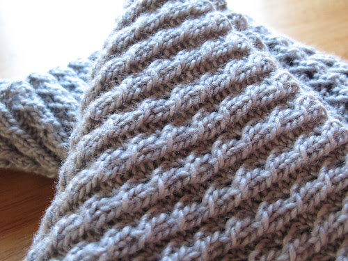 Twisted Rib infinity scarf