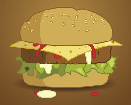 How to draw a delicious Burger