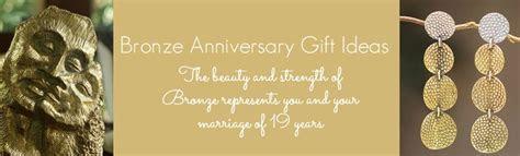 19th Wedding Anniversary Gift Ideas   In Bronze & Aquamarine
