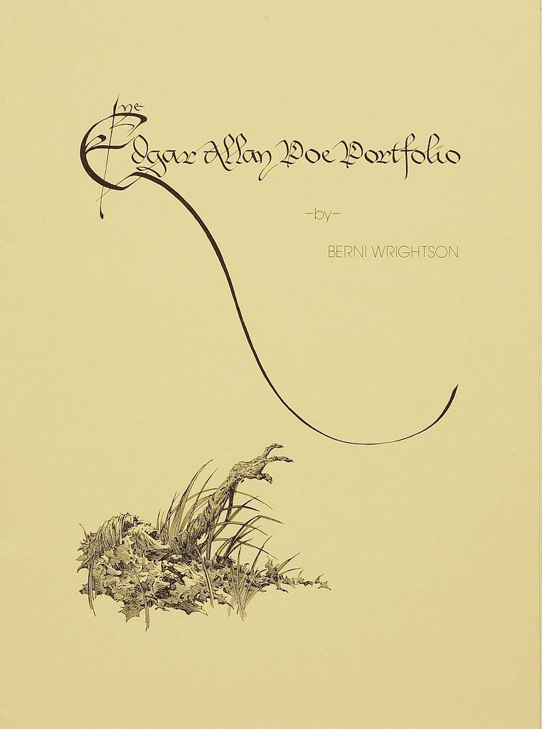 Bernie Wrightson -  Edgar Allan Poe Portfolio, Title Page  (Christopher Enterprises, 1976)