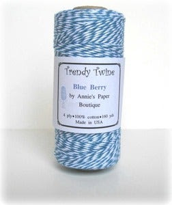 Image of Blue Berry Trendy Twine - Light Blue & Dark Blue Bakers Twine