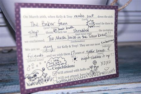 17 Best images about Wedding: mad lib RSVP on Pinterest