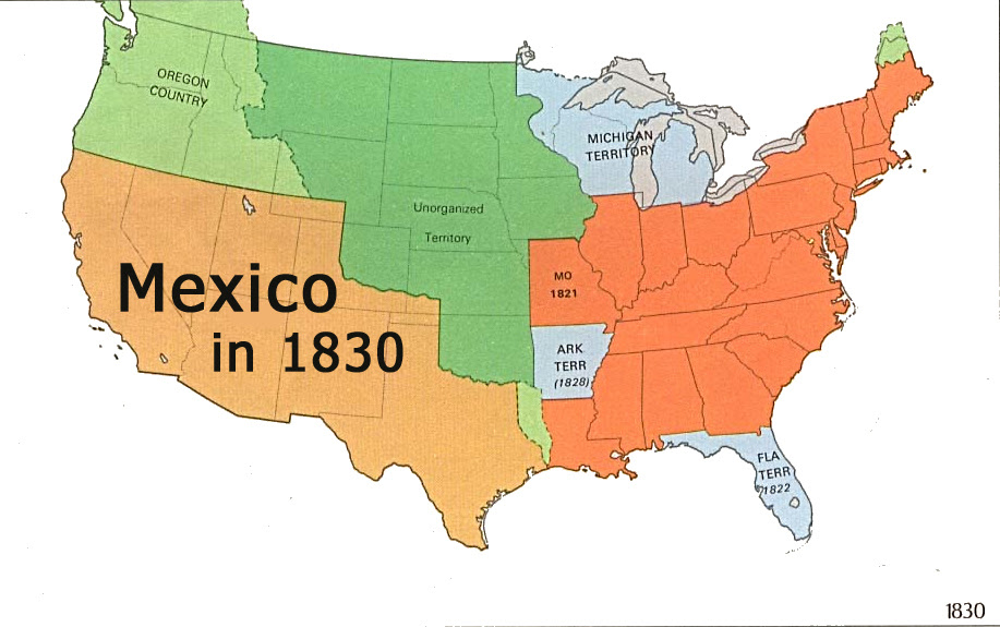 Us Map 1830