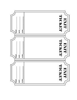 FREEBIE - Exit Ticket Template. You can edit this template to fit ...