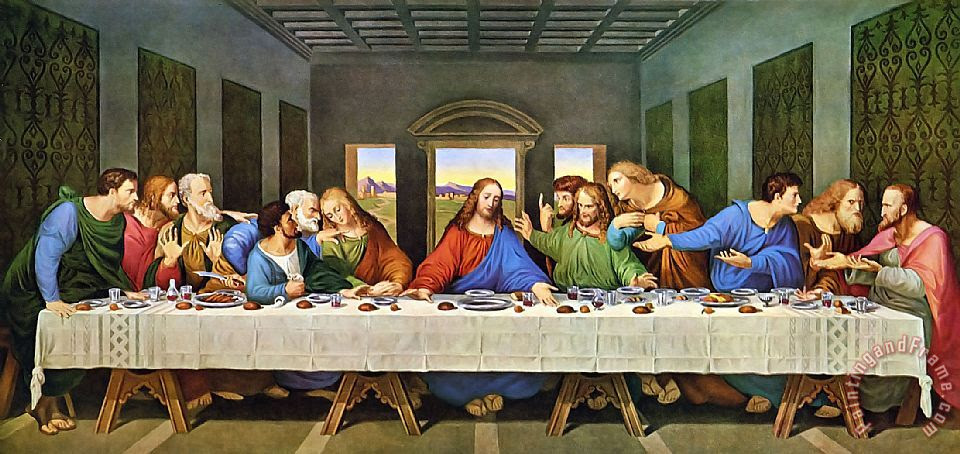 Leonardo Da Vinci The Last Supper Painting The Last Supper Print