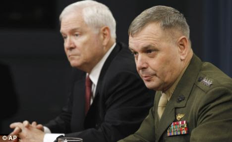 Announcement: Defense Secretary Robert Gates and Joint Chiefs Vice Chairman General James Cartwright at the Pentagon Press conference