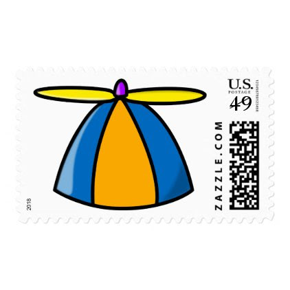 Funny Geek Nerd Propeller Hat Stamp