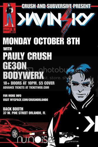 Kavinsky - October 8 in Orlando