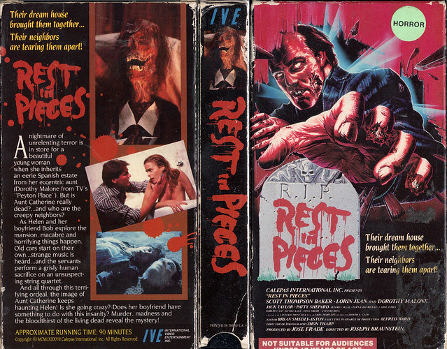 REST IN PIECES (VHS Box Art)