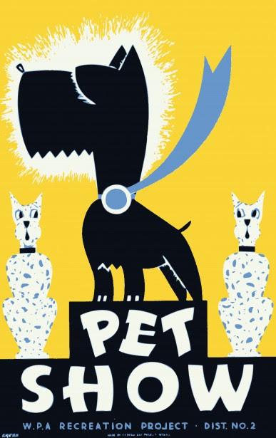 Dog Show Cartoon Poster