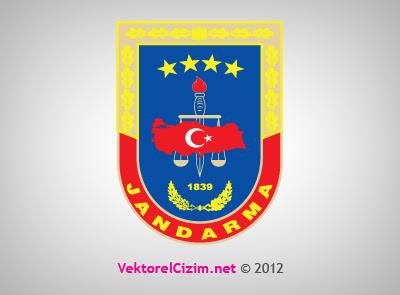 Vektörel çizim Jandarma
