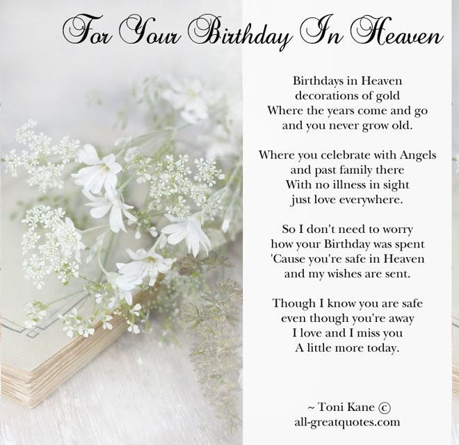 Happy Birthday In Heaven Quote Quote Number 682202 Picture Quotes