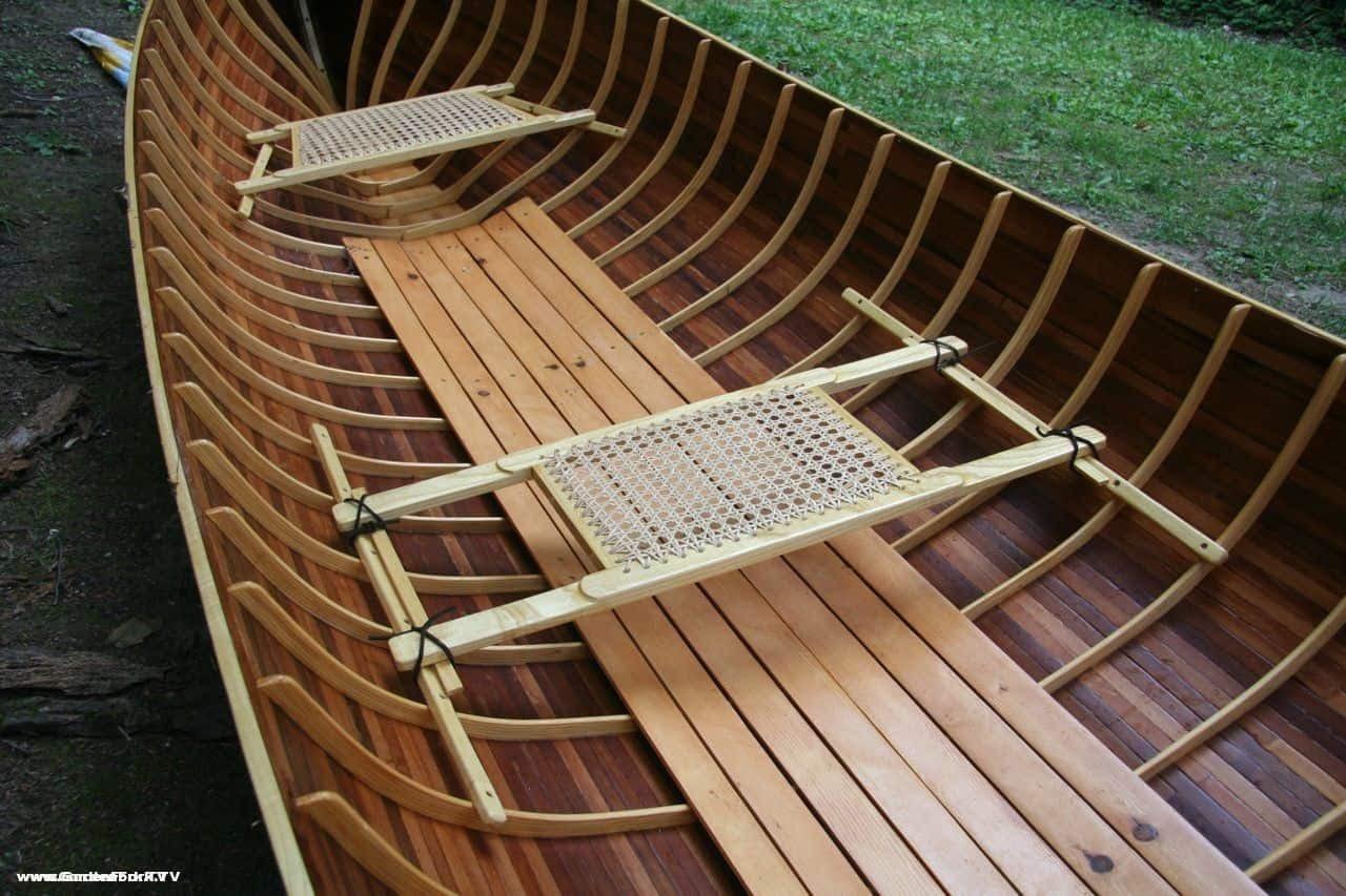 Adirondack Guide Boat handmade from wooden boat plans - GardenFork.TV