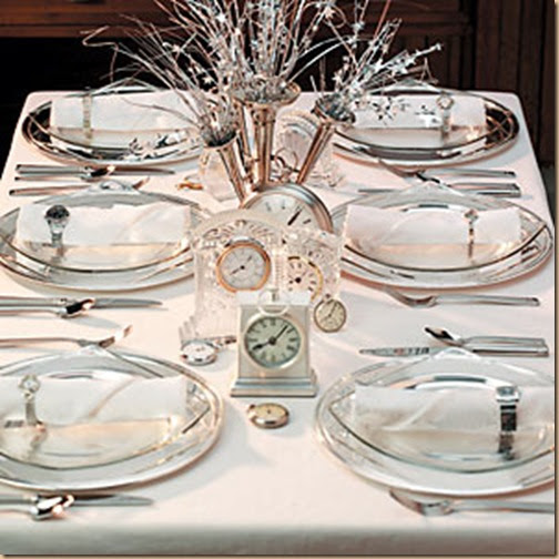 2013 New Years Eve Dinner Party Table Setting Ideas Design Trends Blog