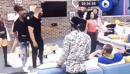 BBNaija: Laycon assists Kiddwaya when he almost fell while staring at Erica's bum (Video)