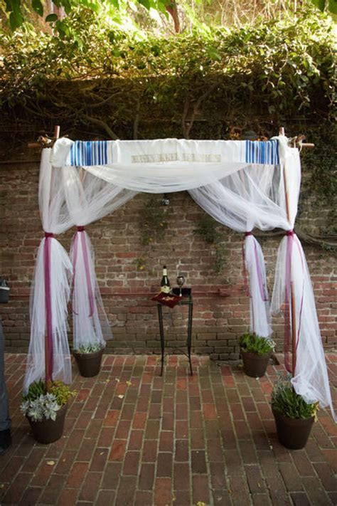 Easy DIY Chuppah   AllFreeDIYWeddings.com