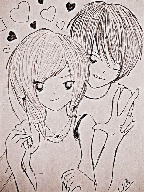 cute couple pencil drawing  getdrawingscom