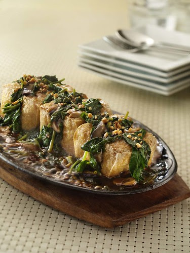 Max's Adobong Kangkong Stuffed Tofu