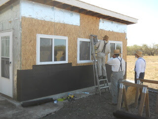 Summer Kitchen All Windows & OSB in Place