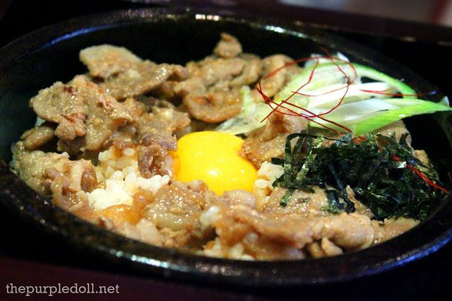 Pork Rice with Egg Yolk in Stone Pot P225