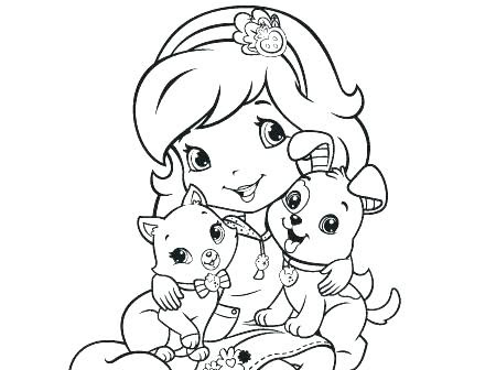 Princess Strawberry Shortcake Coloring Pages At Getcoloringscom
