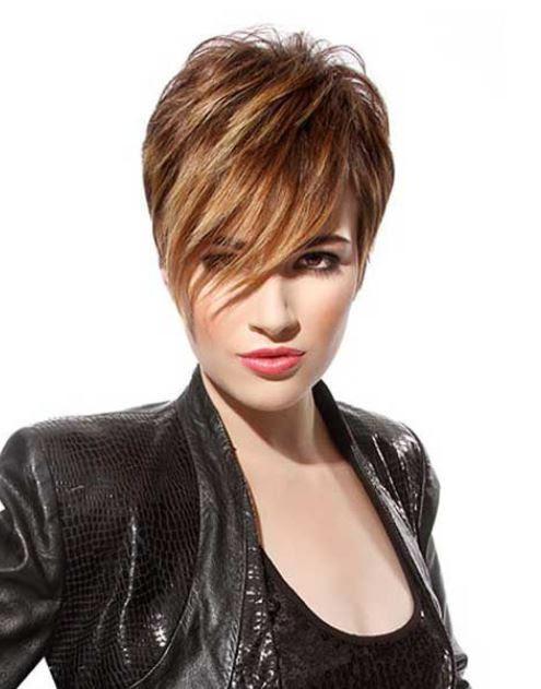 Tagli capelli corti (Foto) PourFemme - tagli di capelli corti con ciuffo lungo