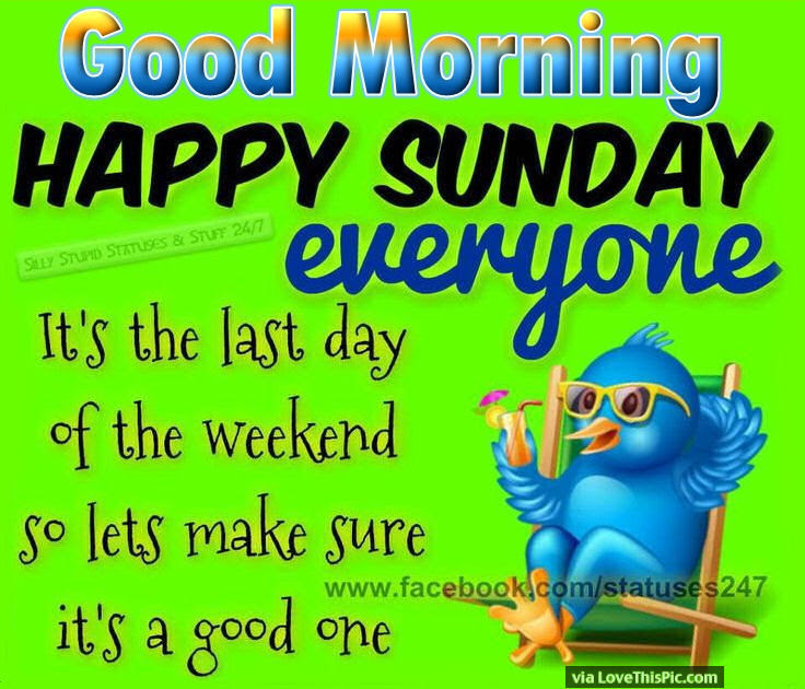 Good Morning Happy Sunday Everyone Pictures Photos And Images For