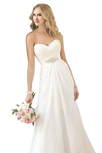 Dreambridal Women's Chiffon A Line Wedding Dresses Simple