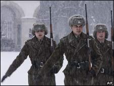Soldados polacos en Varsovia
