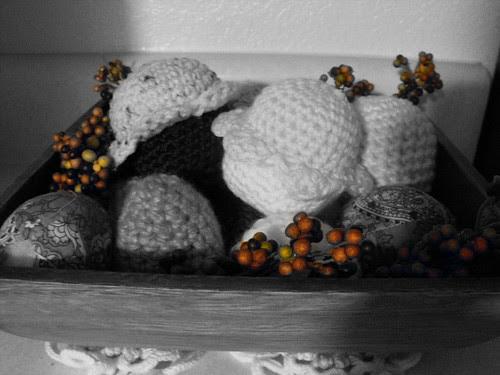 Basket of crochet goodies