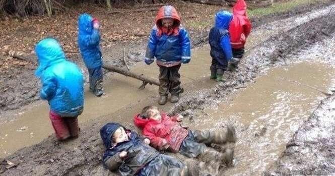Imagens de crianças sendo crianças, para alegrar seu dia
