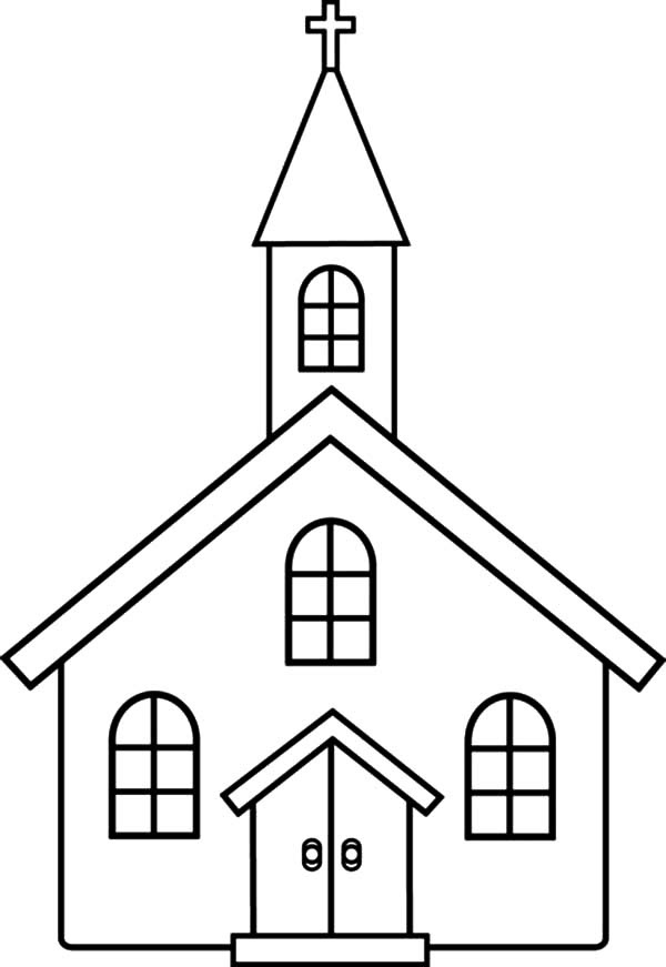 Church Coloring Pages for Kids: Church Coloring Pages for ...