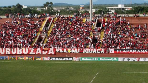 Arena joinville torcida flamengo (Foto: Fred Huber )