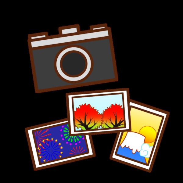 カメラと風景写真のイラスト かわいいフリー素材が無料のイラストレイン