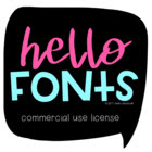 Hello Fonts - Small Commercial Use License (for Teachers)