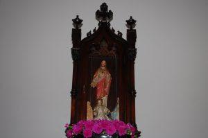 Oratório do Sagrado Coração de Jesus no quarto de Da. Lucilia