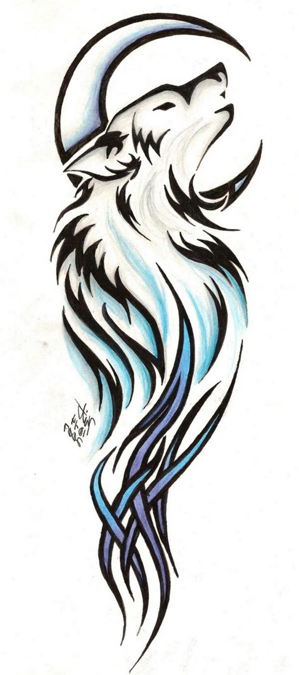 Silhouette Wolf Tattoo At Getdrawingscom Free For Personal Use