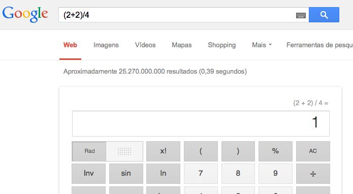Colocando mais de uma conta para o Google calcular (Foto: Reprodução/Edivaldo Brito)