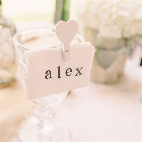 Place Cards   Handmade Cotton Paper Torn Edges   Pack Of