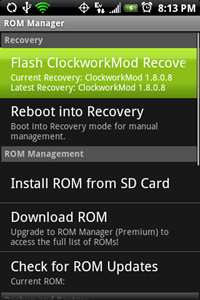 [Complete Guide] How To Flash A Custom ROM To Your Android Phone With ROM Manager + Full Backup & Restore