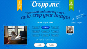 Cropp.me Automatically Crops Multiple Images Online