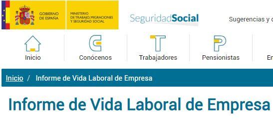 Resultado de imagen de Campaña de informe de vida laboral de los trabajadores