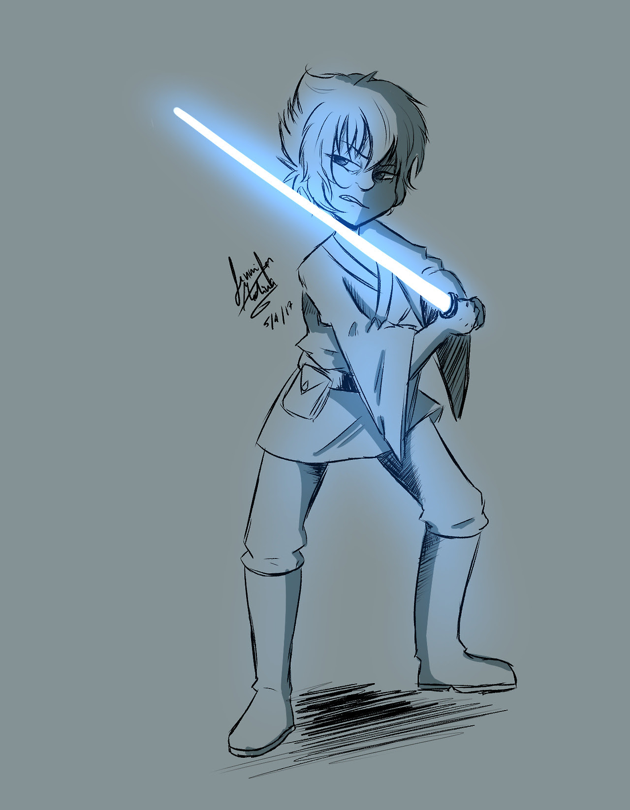 """""""May the 4th be with you"""" ;u;"""