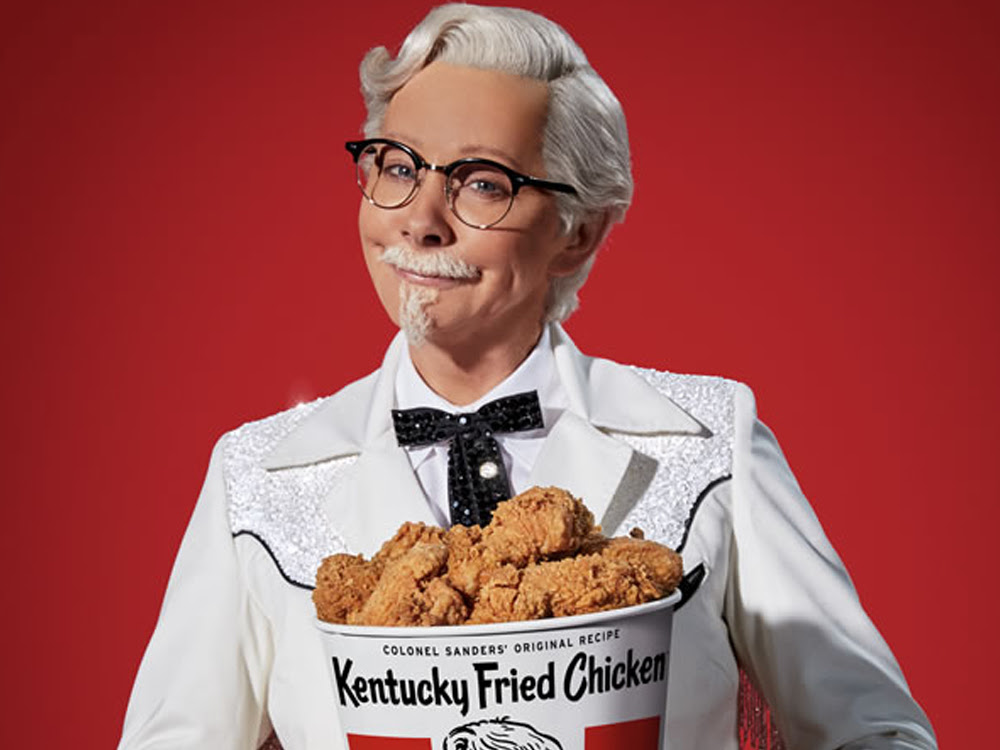 Image result for reba as col. sanders