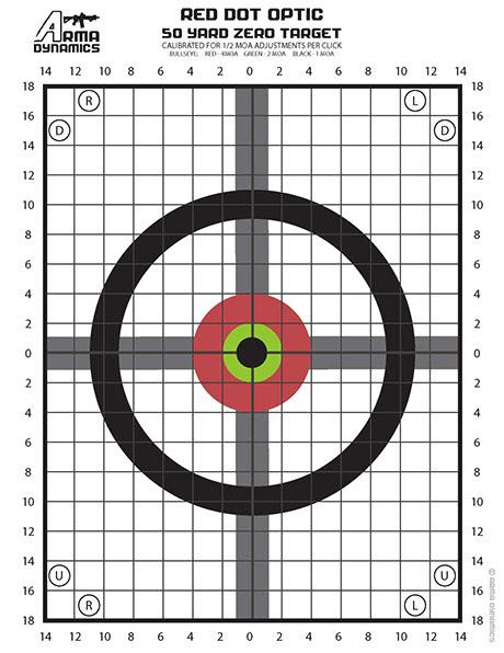 Printable 50 Yard Zero Target