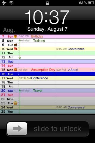 Vertical Calendar 2 Vertical Calendar For Iphone