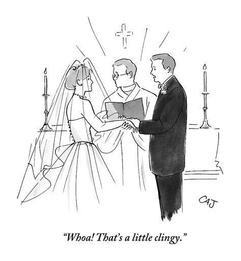 Man To Wife During Wedding Vows Drawing by Carolita Johnson