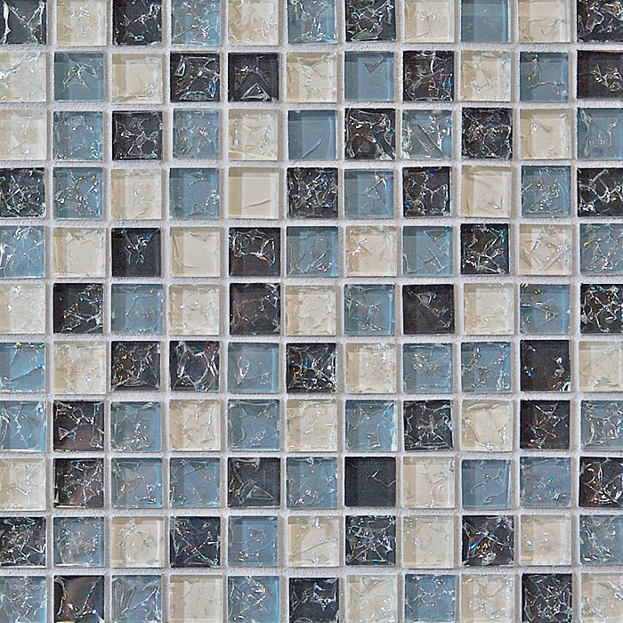 Crackle Glass Tile 1 X 1 Crackled Glossy Glass Tile Mosaic Gray