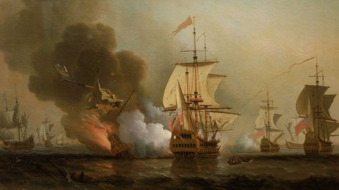 Fighting off Cartagena, 28 May 1708