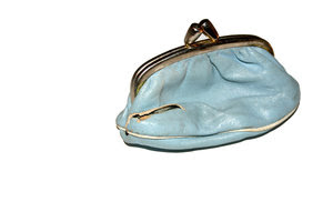 purse: little blue purse